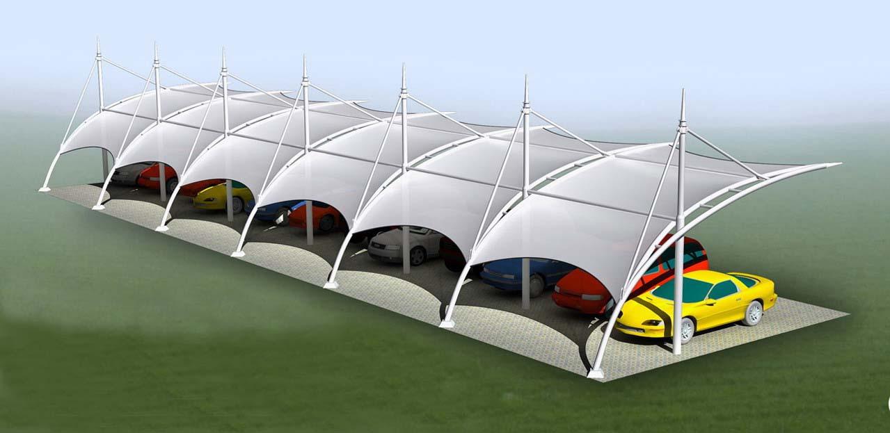 长沙停车棚-福建地区销量好的膜结构怎么样
