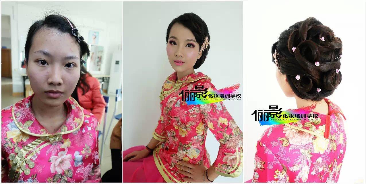 遂溪哪里學化妝好 值得信賴的新娘化妝造型培訓就在湛江儷影化妝學校
